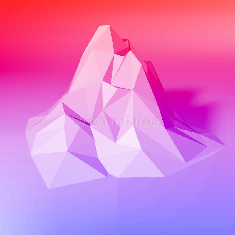 梯度抽象多角形背景 向量例证