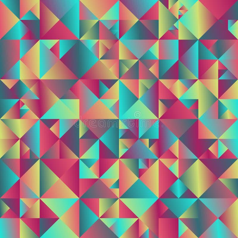 梯度摘要几何五颜六色的三角背景设计 向量例证