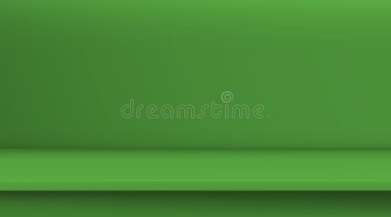 梯度滤网向量表 空的鲜绿色颜色表,演播室室背景为您的企业产品做广告 ?? 向量例证