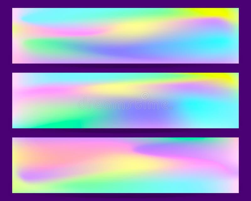 梯度滤网背景模板 抽象被弄脏的横幅编目 色的可变的图表构成例证 现代传染媒介 皇族释放例证