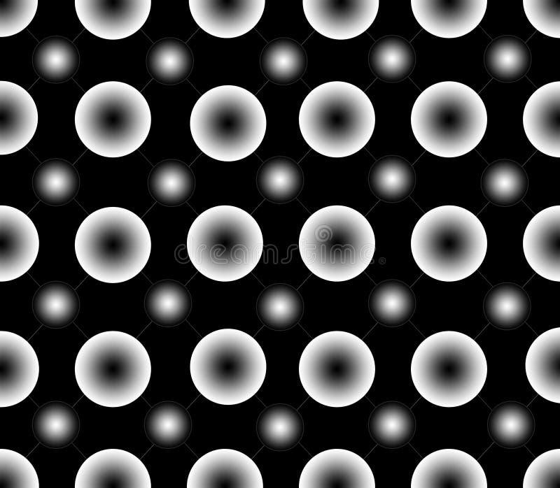 梯度白色小点的无缝的样式 库存照片