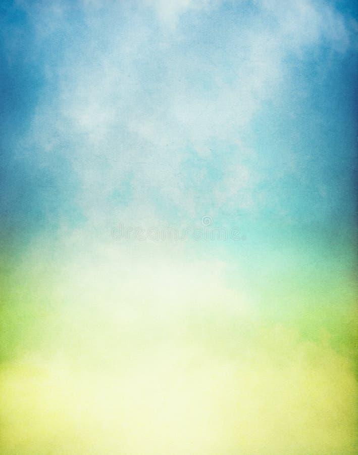 梯度绿色有薄雾的黄色 库存照片