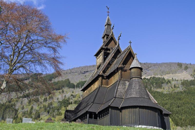 梯级教会Hopperstad 库存图片