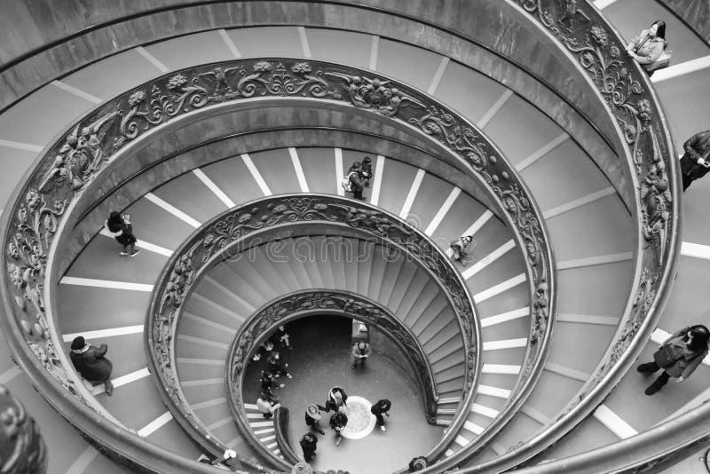 梵蒂冈博物馆或Bramante博物馆 库存照片