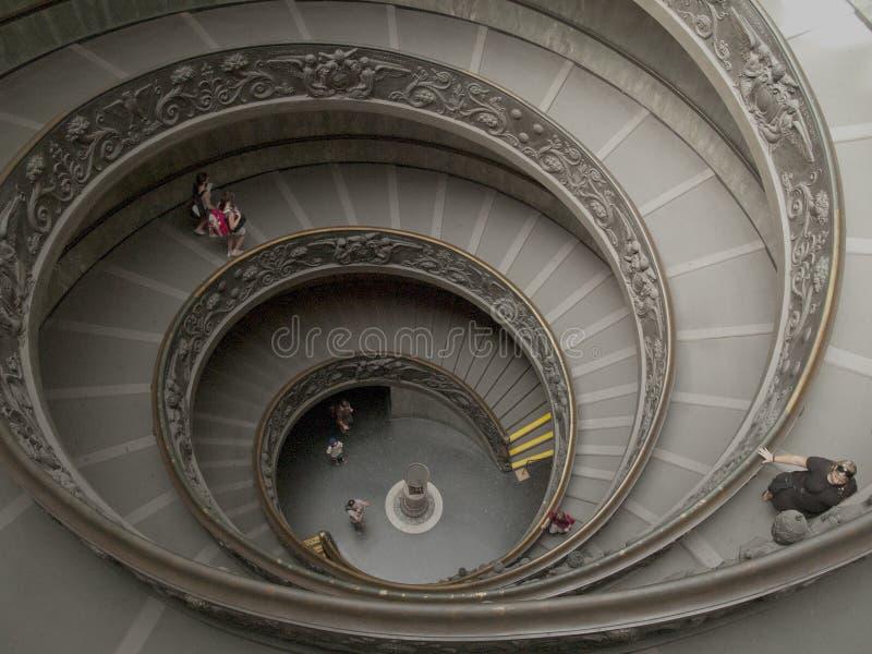 梵蒂冈博物馆楼梯 免版税图库摄影