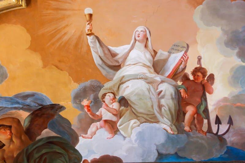 梵蒂冈博物馆的新生圣母玛丽亚 图库摄影