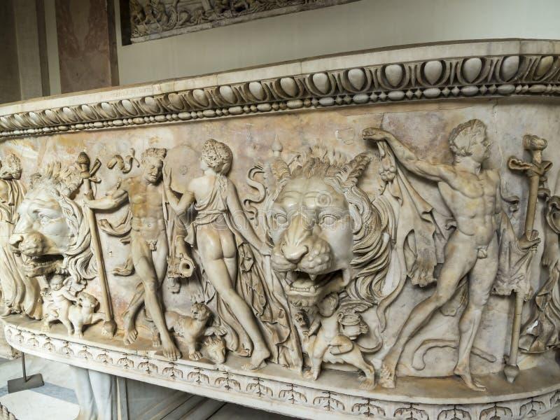 梵蒂冈博物馆的罗马珍宝在罗马意大利 库存图片