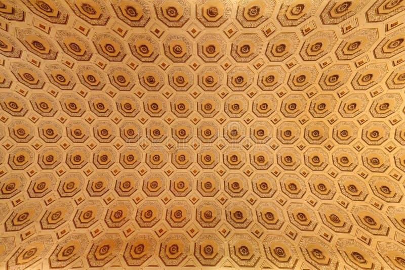 梵蒂冈博物馆美好的被设计的内部  皇族释放例证