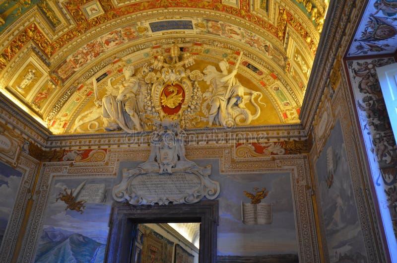 梵蒂冈博物馆,天花板,地标,教堂,旅游胜地 免版税库存照片