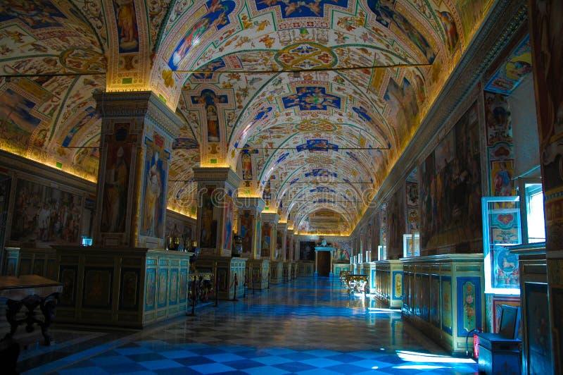 梵蒂冈图书馆内部,艺术,宗教,罗马 库存照片