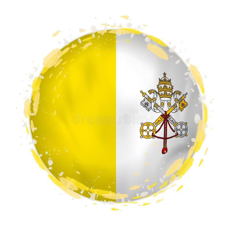 梵蒂冈圆的难看的东西旗子与在旗子颜色飞溅 皇族释放例证