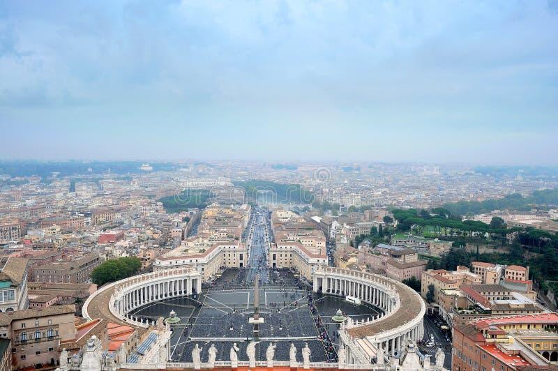 梵蒂冈的圣彼得广场 免版税库存图片
