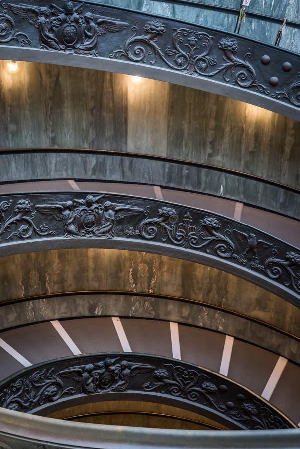 梵蒂冈的螺旋台阶的细节 库存图片