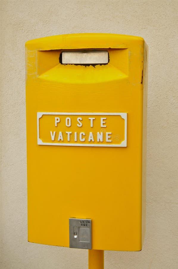 梵蒂冈邮政局的邮箱 库存图片