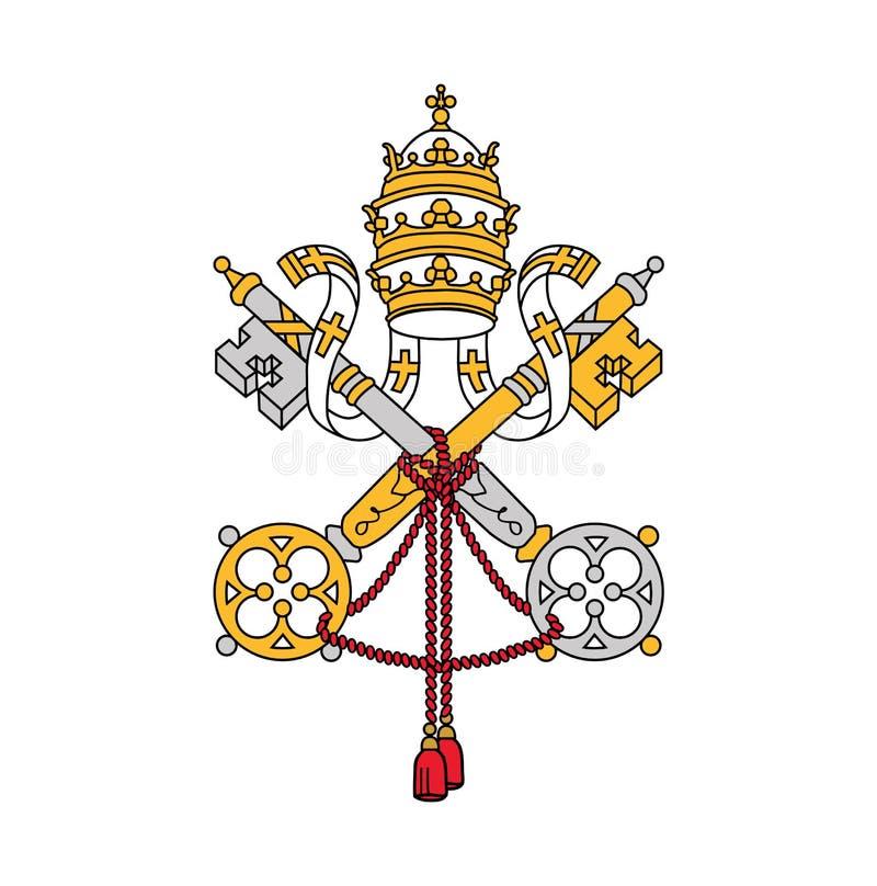 梵蒂冈,传染媒介例证的标志 库存例证