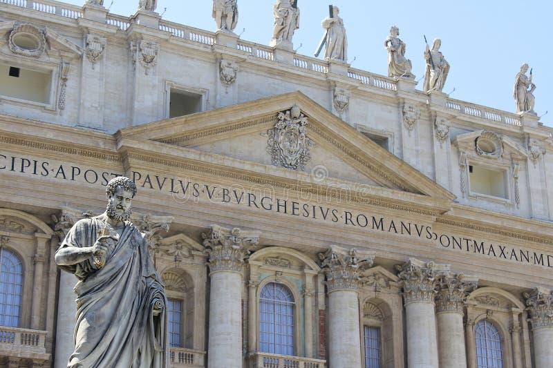 梵蒂冈(圣彼得大教堂) 库存图片
