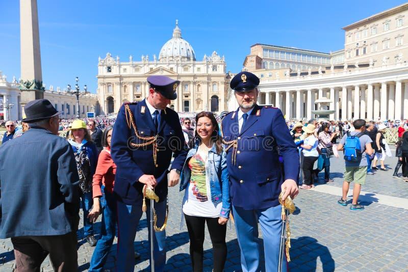 梵蒂冈-意大利的游人 库存图片