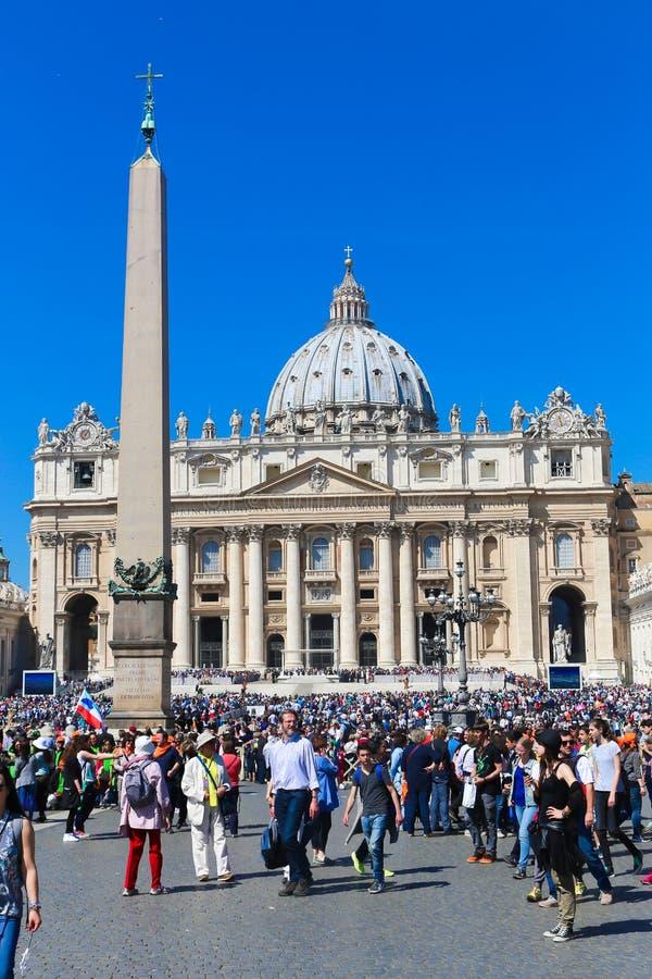 梵蒂冈-意大利的游人 图库摄影