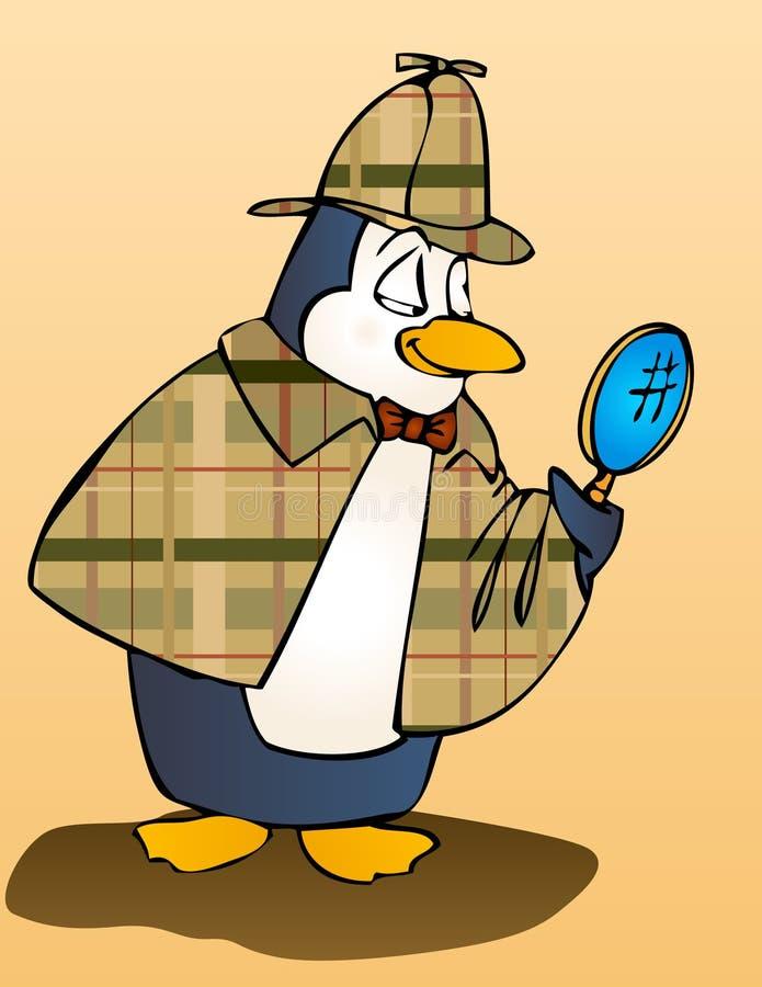 检查员企鹅 皇族释放例证