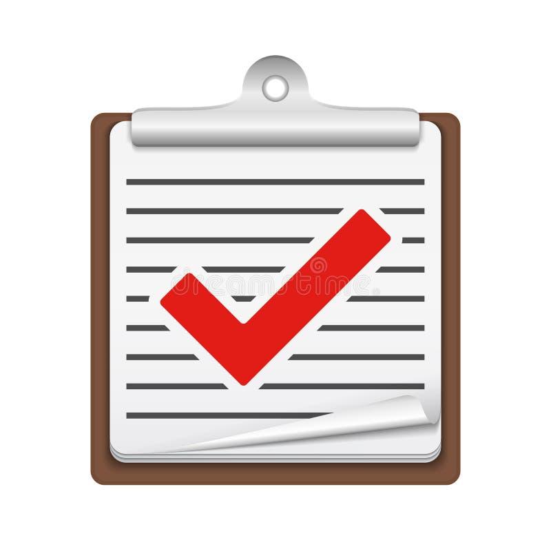 检查图标列表 向量例证