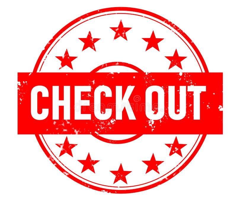 检查在白色背景的邮票红色不加考虑表赞同的人 检查邮票标志 检查邮票 难看的东西红色检查与星象 皇族释放例证