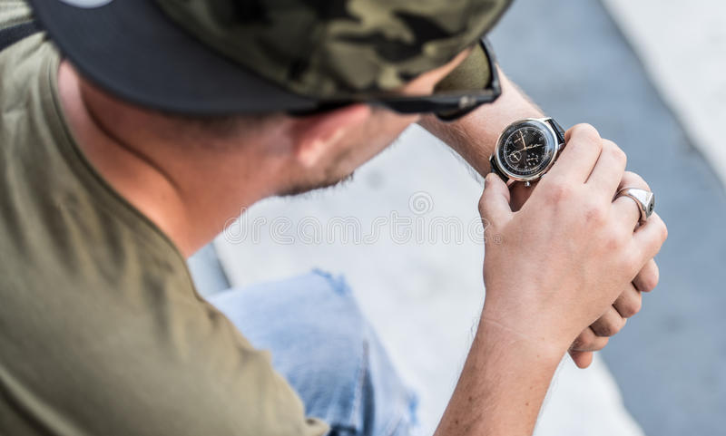 检查我的手表 库存图片
