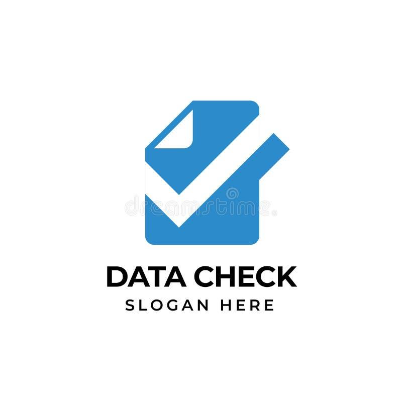 检查文件商标模板设计 doc检查象标志设计 皇族释放例证