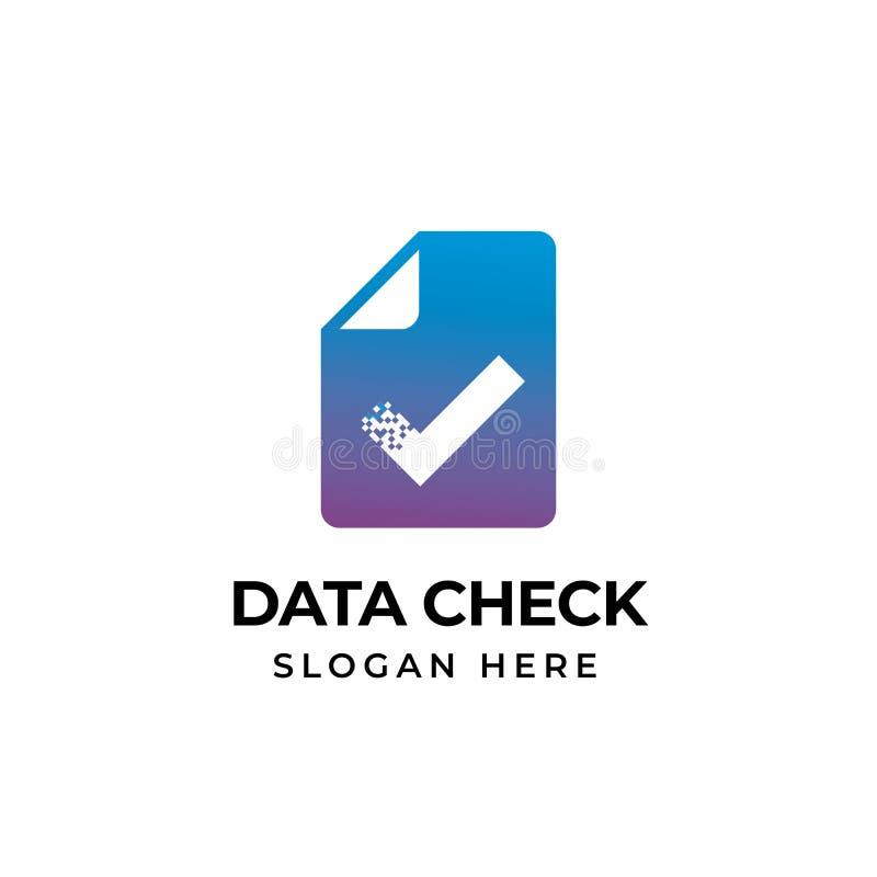 检查文件商标模板设计 doc检查象标志设计 向量例证