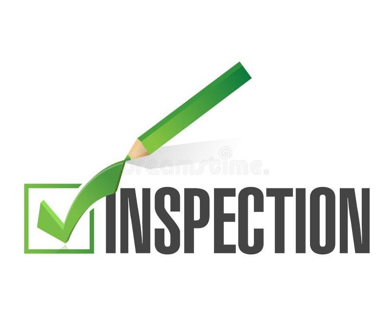 检查校验标志例证设计 向量例证