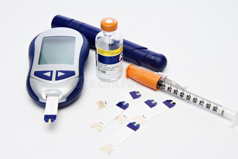 检查糖尿病  免版税库存照片