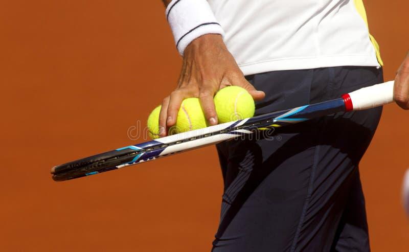 检查网球 库存照片