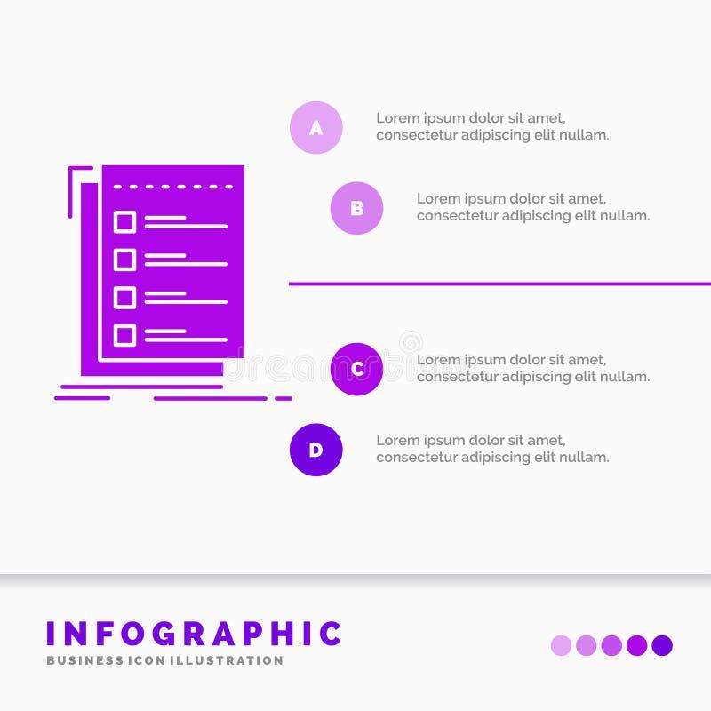 检查,清单,名单,任务,做网站和介绍的Infographics模板 r 向量例证