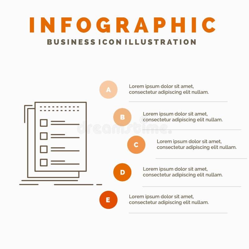 检查,清单,名单,任务,做网站和介绍的Infographics模板 r 皇族释放例证
