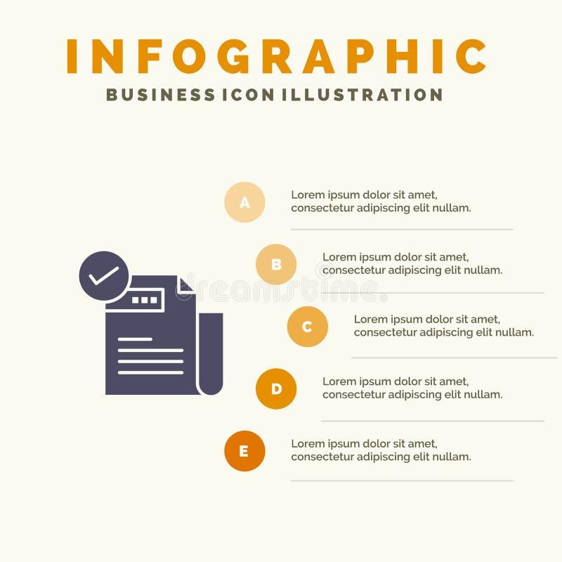 检查,清单,特点,特色,特点,坚实象Infographics 5步介绍背景 向量例证