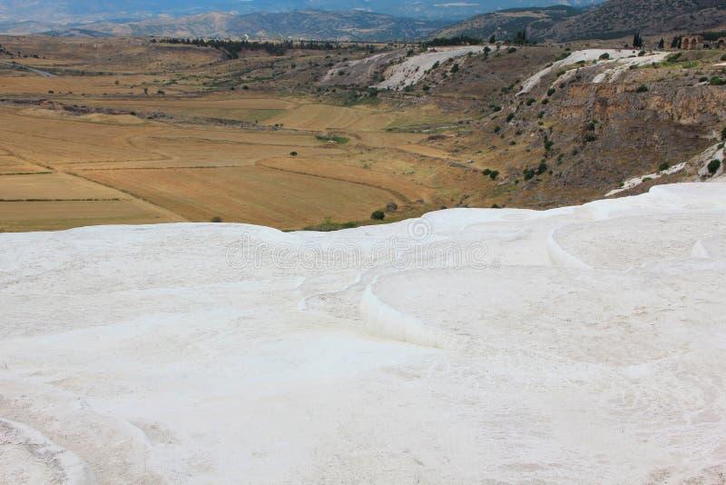 棉花堡-棉花城堡,代尼兹利省在西南土耳其 图库摄影