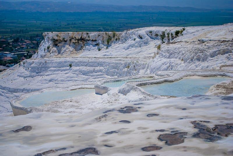 棉花堡水池,土耳其 图库摄影
