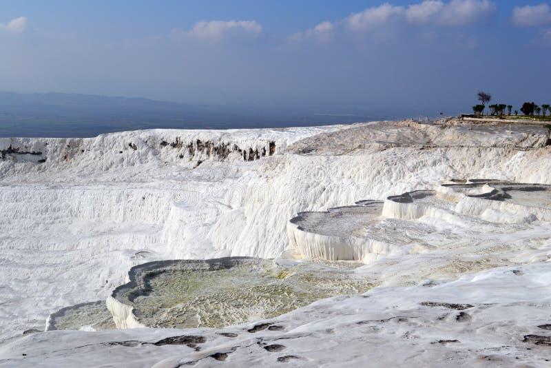 棉花堡- a'棉花'山在土耳其 图库摄影