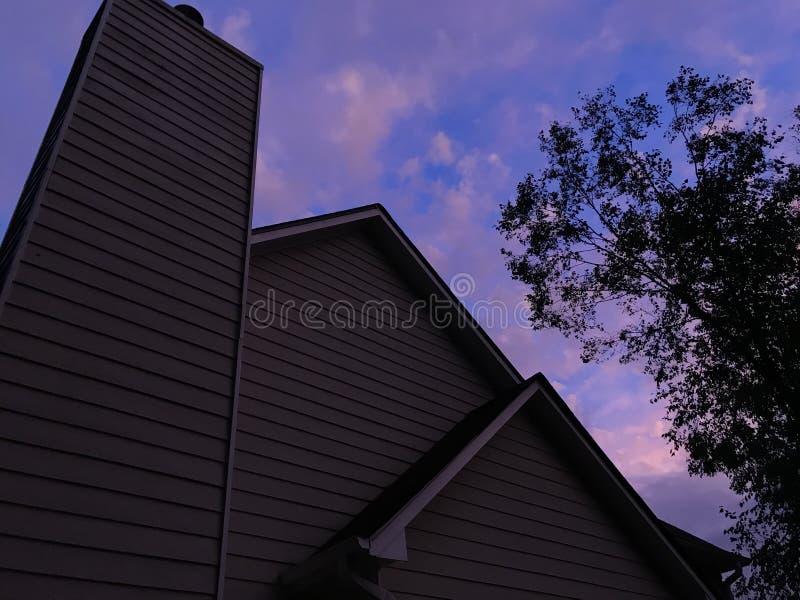 棉花天空 库存照片