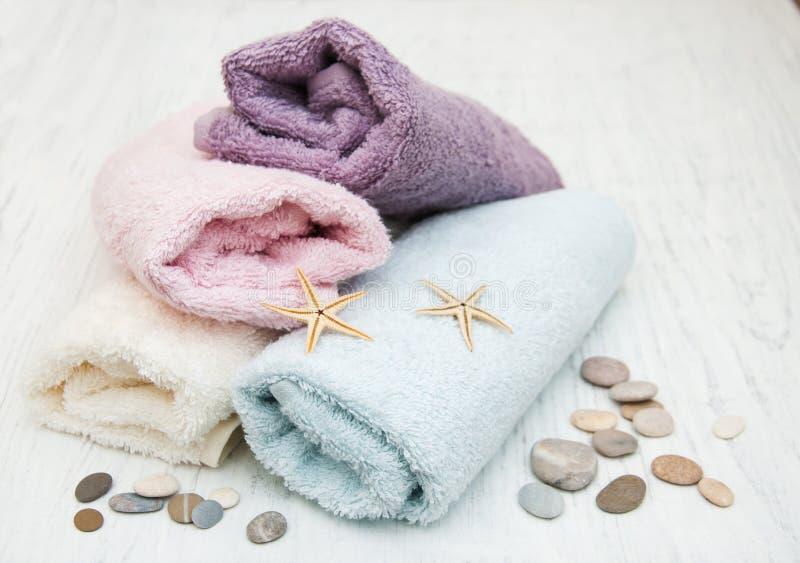 棉花毛巾 图库摄影