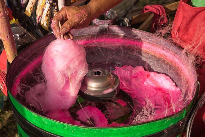 棉花糖制造商在哥伦比亚 库存图片