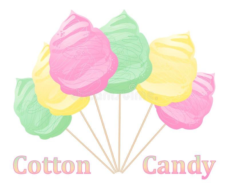棉花糖广告 库存例证