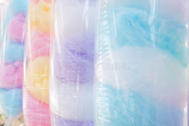 棉花糖Saimai是泰国式糖果在泰国 库存图片