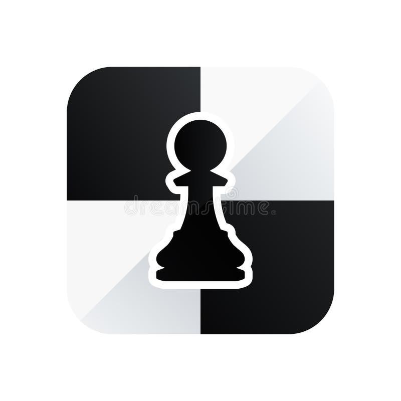 棋典当在白色背景隔绝的传染媒介象 库存例证