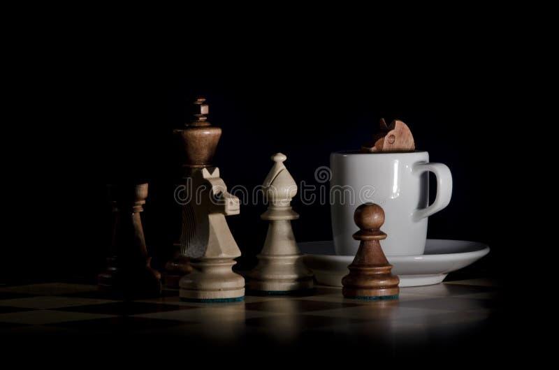 棋咖啡 免版税图库摄影