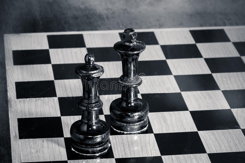棋国王和女王/王后- 免版税库存图片