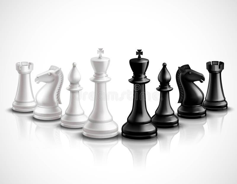 棋子例证 向量例证