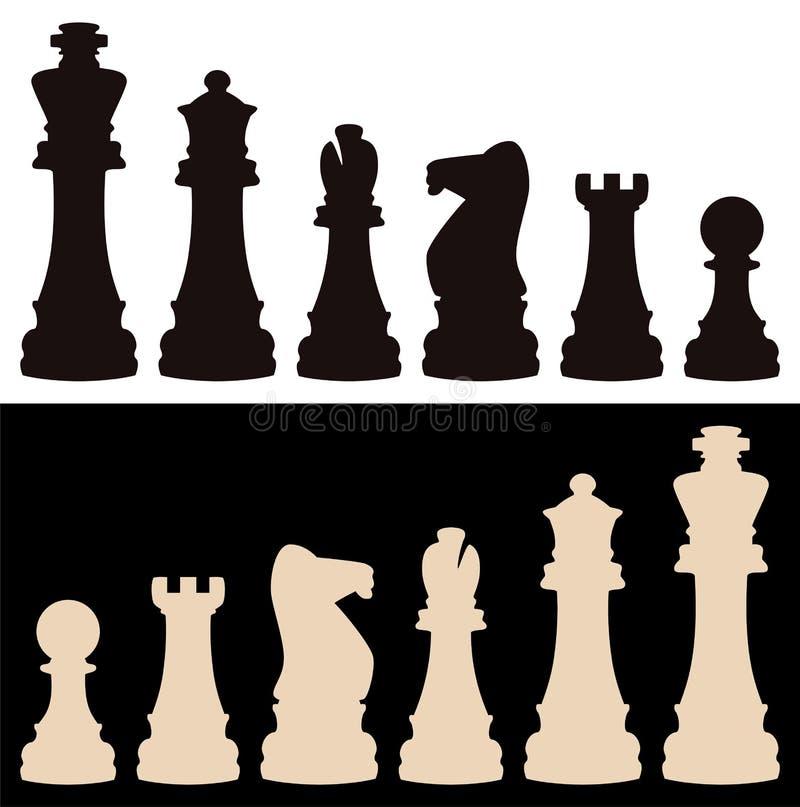 棋子向量 皇族释放例证