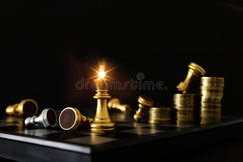 棋局形象 业务、竞争、战略、领导力和成功概念 免版税库存照片