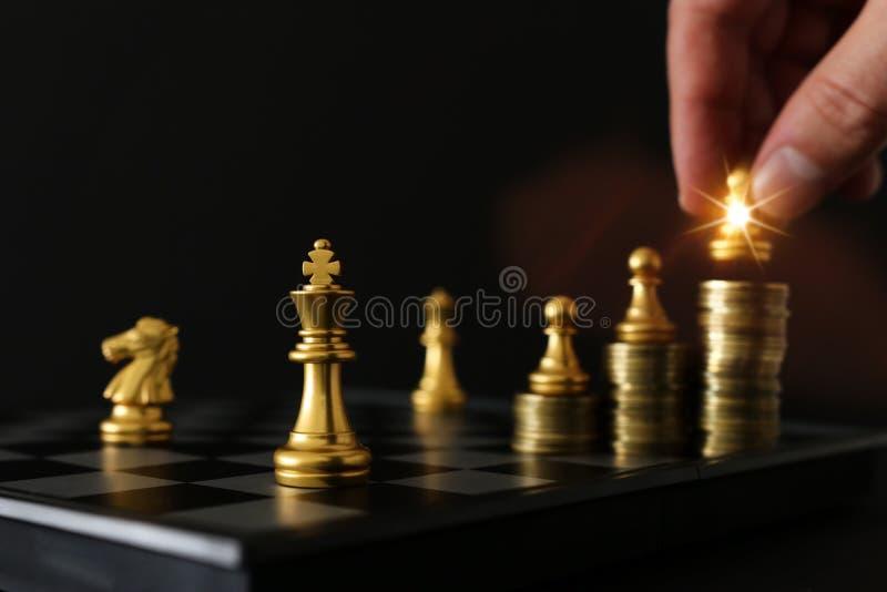 棋局形象 业务、竞争、战略、领导力和成功概念 库存照片