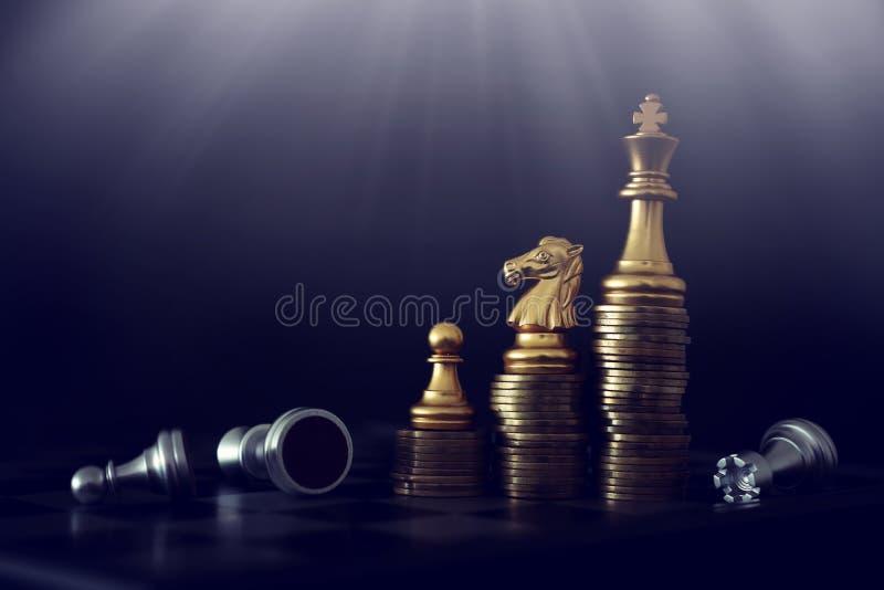 棋局形象 业务、竞争、战略、领导力和成功概念 免版税图库摄影